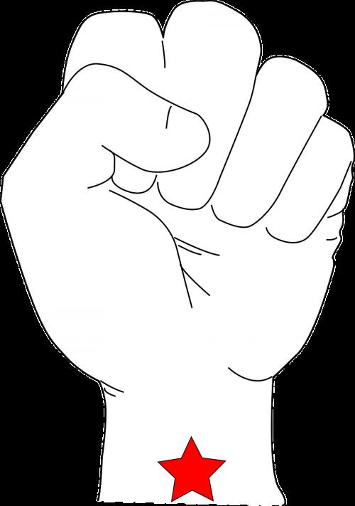 fist power star