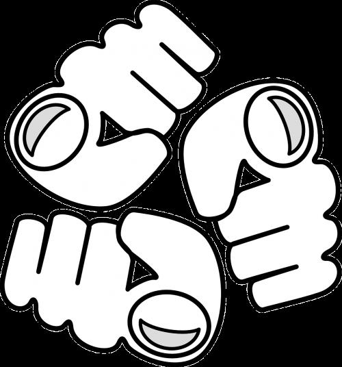 fist logo aggression