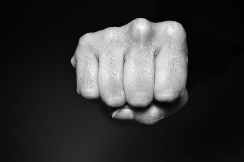 fist  violence  attack