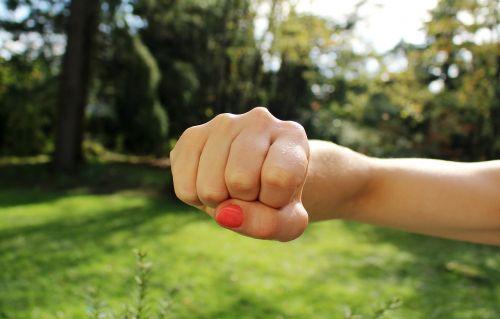 fist bump anger hand