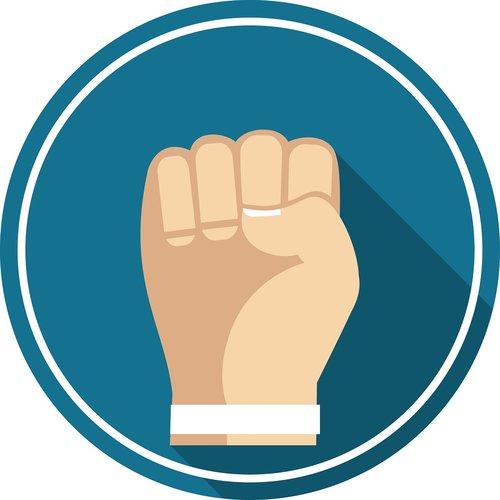 fist up  hand  symbol