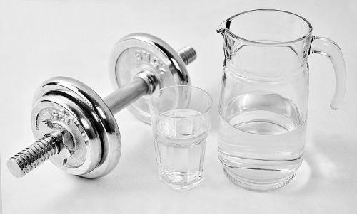 fitness dumbbell water