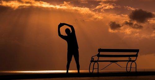 fitness  sunset  sport
