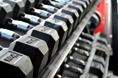fitness weight lifting dumbbells