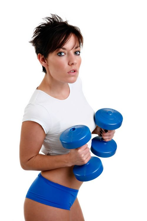 fitness dumb bells muscle