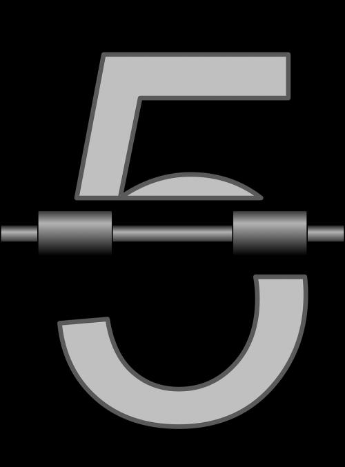 five numbers clock