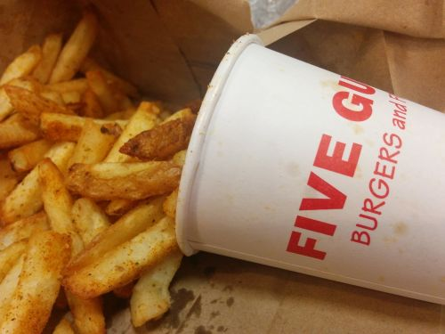 five guys chips burger joint