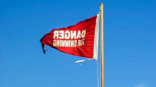 flag danger sign