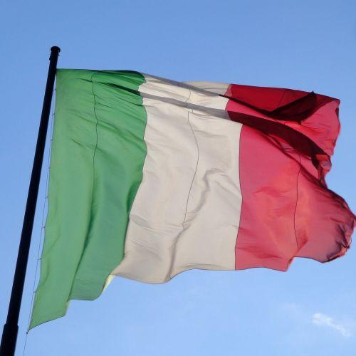 italy flag italian
