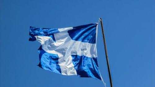 flag waving greece
