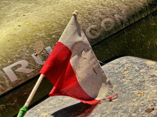 vėliava,lenkų vėliava,Lenkija,off road,4 x 4,purvas,Jeep Wrangler,Rubicon