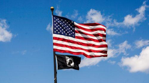pow usa flag