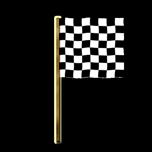flag targeted banner checkered flag
