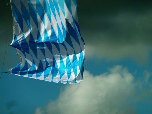 flag blue white bavaria