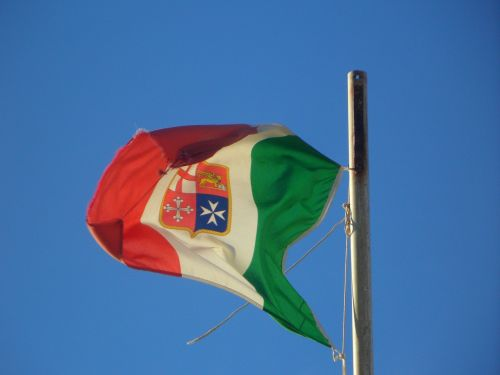 flag blow sky