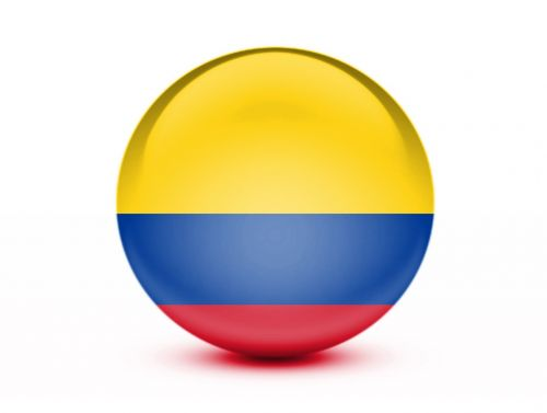 flag colombia 3d