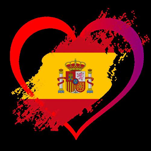flag heart love