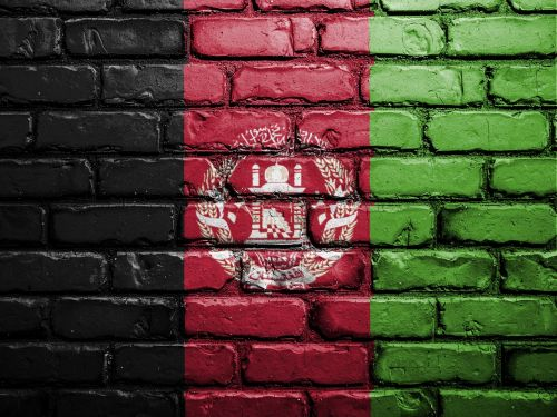 flag afghanistan wall