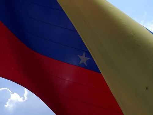 flag venezuela clouds