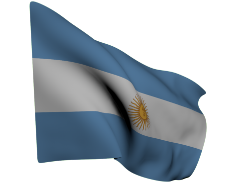 flag argentina blue
