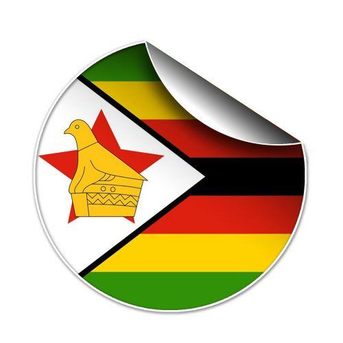 flag zimbabwean symbol