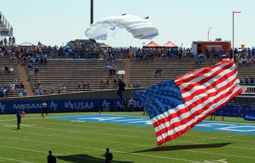 flag parachute sport