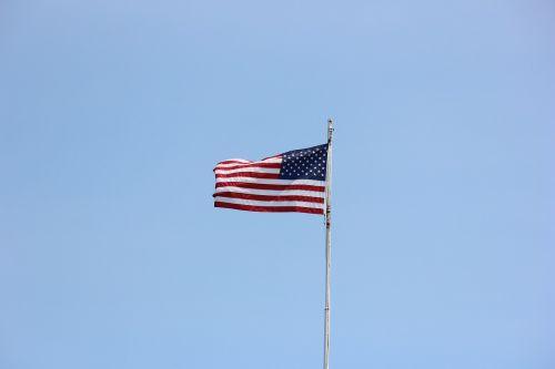 flag waving american