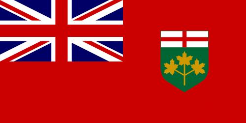 flag ontario canada