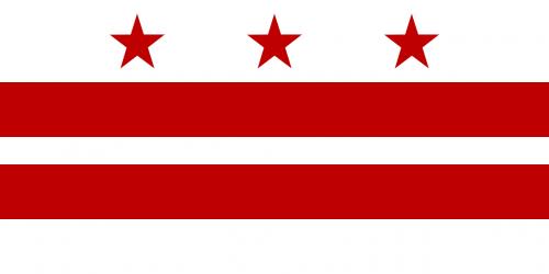 flag washington dc district of columbia