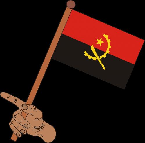 flag angola flag of angola
