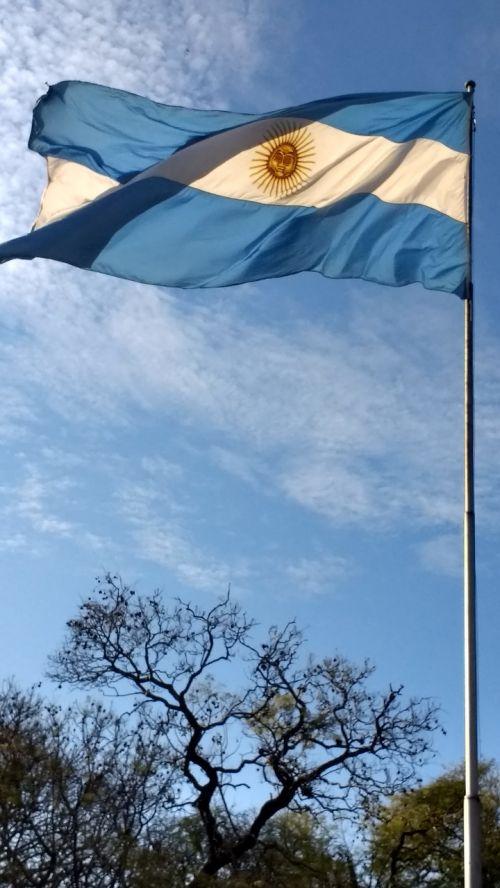 flag argentina autumn