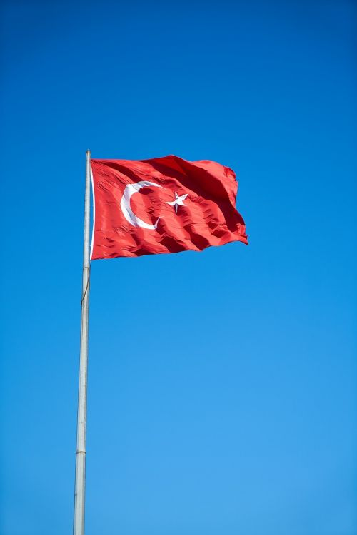 flag turkish red