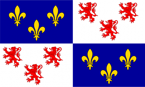 flag,fleur-de-lis,rampant,coat of arms,france,heraldry,free vector graphics