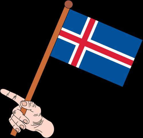 flag flag of iceland iceland