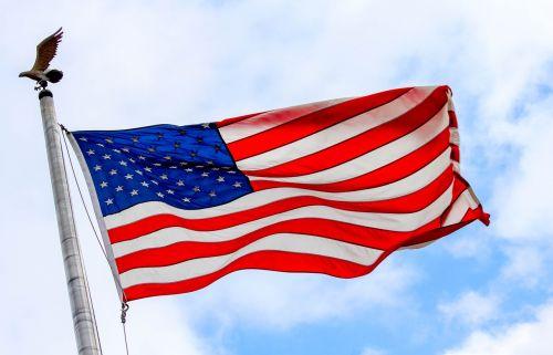 flag patriotism wind