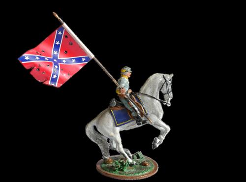 flag  reiter  horse