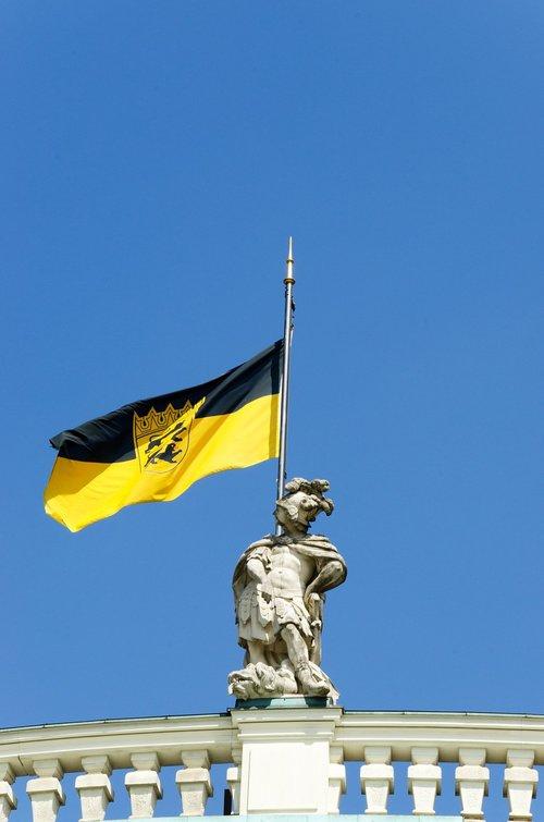 flag  baden württemberg  statue