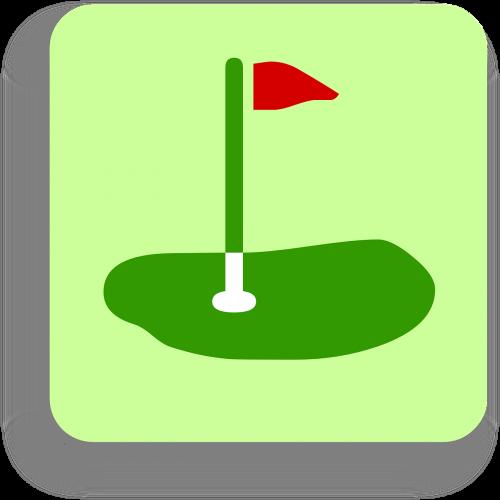 flag golf green