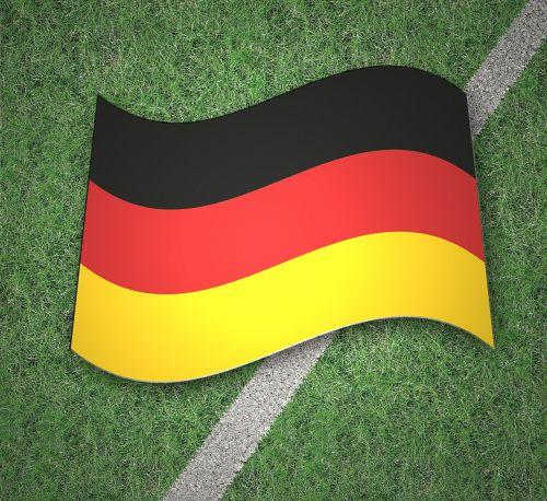 flag germany gold