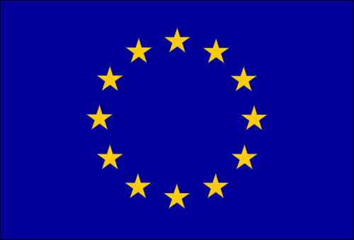 flag europe blue background