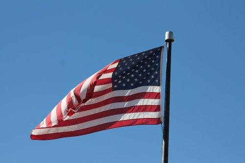 flag  waving  america