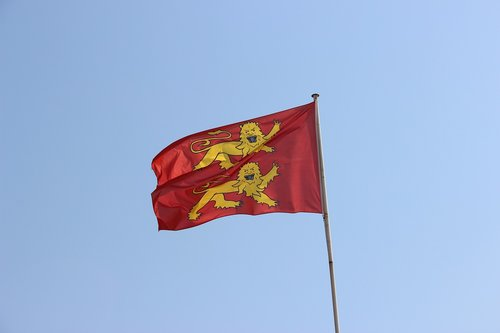 flag  normandy  france