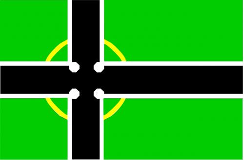 flag black green