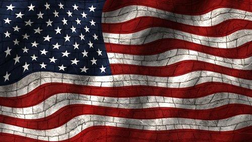 flag  usa  wall