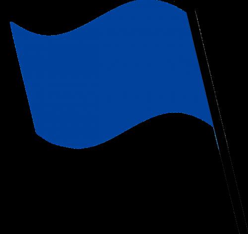 flag dark blue wind