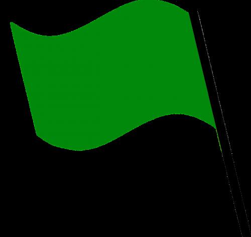 flag dark green wind