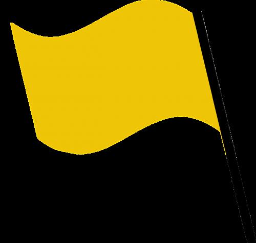 flag yellow wind