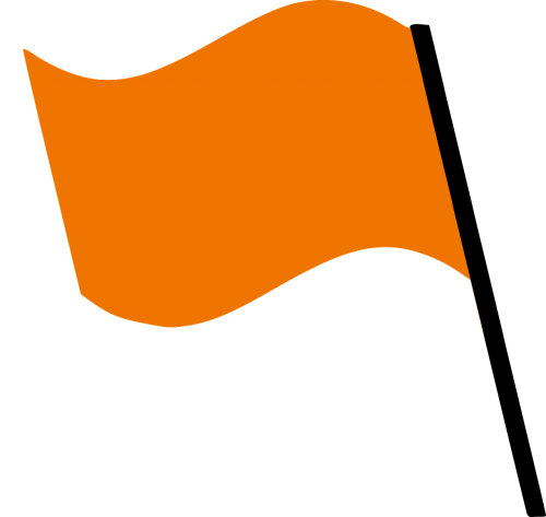 flag orange wind