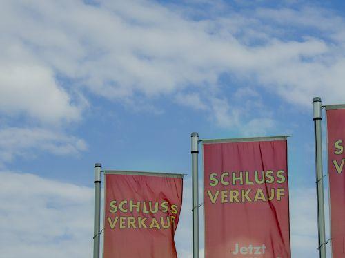 vėliava,galutinis pardavimas,pardavimas,dangus,mėlynas,atpirkimo rinka