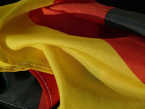 flag germany rumpled